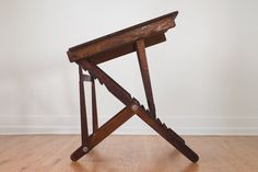 antique folding pine drafting table