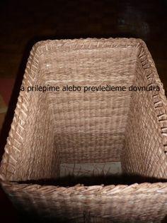 Trojpárová uzávierka Laundry Basket, Wicker, Recycling, Organization, Newspaper, Diy, Inspiration, Home Decor, Journaling