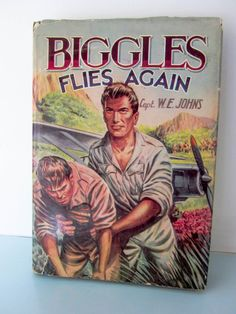 Biggles vintage hardback book, written by captain W E Johns, Biggles flies again, vintage children's action book, World war II stories by on Etsy Books For Boys, My Books, Action Story, Air Space, Story Books, Space Crafts, Vintage Books, Back In The Day, Vintage Children