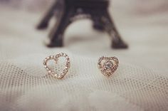 YE392 Heart Crystal 18K Gold Plated Earring by BlueroseFashion, €10.00