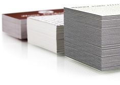 Moo cards have developed the Luxe range. 600 gsm, quadplex business cards printed digitally.
