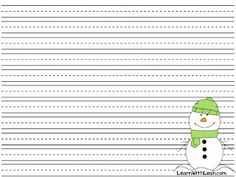 free printable snowman writing paper