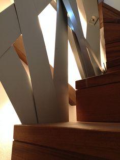 """iroko stair and sculture """"glici""""...Manuel Spiritelli design"""
