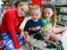 Too cute for words, but not for Wordless Wednesday #5: Three kids and abunny.