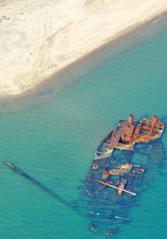 shipwreck in Epanomi, Thessaloniki, Greece