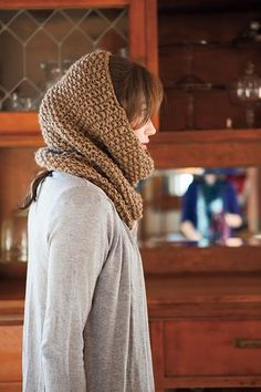 Seed Stitch Cowl and Hood - Knitting Patterns and Crochet Patterns from KnitPicks.com