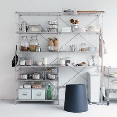 Muji's natural and simple design complements today's lifestyles perfectly. Muji Haus, Muji Storage, Stacking Shelves, Stainless Steel Wire, Wire Baskets, Stores, Storage Solutions, Kitchen Design, Home
