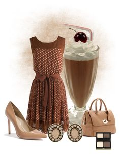 Chocolate Milk by rayita-jq on Polyvore featuring polyvore, fashion, style, GUESS by Marciano, Mulberry, Martine Wester, Kevyn Aucoin and clothing