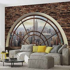 Wall #mural new york city skyline window xxl #photo wallpaper #(2397dc),  View…
