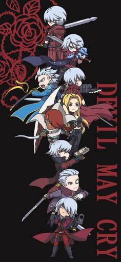 Devil May Cry Charakters as Chibis. I'm a bit sad that Lady isn't included, but I guess thats just playable characters up to DMC 4. I love it anyway.