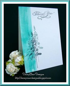 Flowers thankyou card