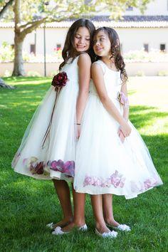 Satin & Tulle Flower Girl Petal Dress w Color Choices (KD160B)