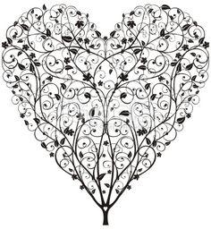Heart Shaped Tree Royalty Free Stock Vector Art Illustration