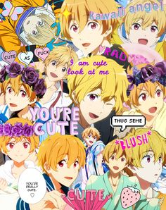 "Too much ""cute"" in one photo! >< It practically spits kawaii smileys with blush marks and eye shimmers in my face! Anime Love, Anime Guys, Nagisa Free, Cute Things From Japan, Splash Free, Free Eternal Summer, Free Iwatobi Swim Club, Kyoto Animation, Free Anime"