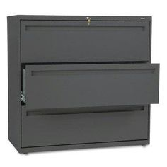 """Hon - 700 Series Three-Drawer Lateral File 42W X 19-1/4D Charcoal """"Product Category: Office Furniture/File & Storage Cabinets"""""""