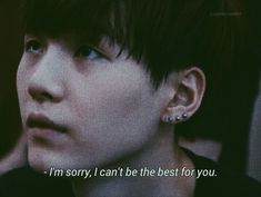 As mum to an ARMY who this boy has helped so much, along with the rest of BTS, I would say you've been the VERY best for us. Bts Lyrics Quotes, Bts Qoutes, Sad Quotes, Frases Bro, Frases Tumblr, Bts Boys, Bts Bangtan Boy, I Need U Bts, Bts Texts