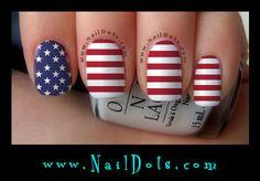 Flag Nail Wraps - Stars & Stripes