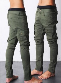 Fabrixquare Skinny Cargo Pants $40.00 | Raddest Men's Fashion Looks On The Internet: http://www.raddestlooks.org