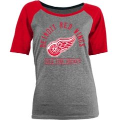 Old Time Hockey Women's Detroit Red Wings Ashley Grey Tri-Blend Shirt - Dick's Sporting Goods