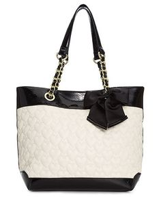 Betsey Johnson Handbag, Heart Quilted Tote
