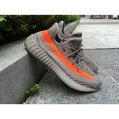 c2630c8acd68 Adidas Mens Yeezy Boost 350 SPLY Beluga Steel Grey Beluga Solar Red -  Authentic Jordans