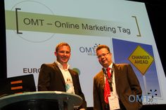 """Veranstaler Mario Jung mit Speaker Thorsten Ebertshäuser kurz vor seinem Vortrag zum Thema """"E-Recruiting"""""""