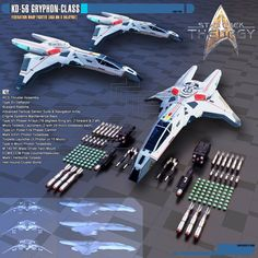the U.S.S. Resolve and the U.S.S. Harbinger use in Star Trek: Theurgy. The first design of the Gryphon-class Warp Fighters were made by Andrew Gillespie (K...