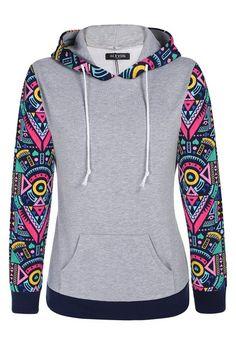 ACEVOG Floral Printed Women Ladies Crew Neck Long Sleeve Sweatshirt Jumper Hoodie Sweater Hood