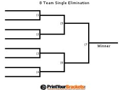 7 Team Double Elimination Printable Tournament Bracket
