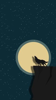 Wolf in moon Pop Art Wallpaper, Wolf Wallpaper, Painting Wallpaper, Mobile Wallpaper, Wallpaper Backgrounds, Dark Phone Wallpapers, Simple Wallpapers, Cellphone Wallpaper, Minimalist Wallpaper Phone