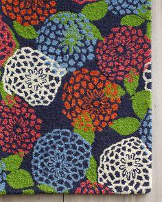 Love This Garnet Hill Bonita Fl Hooked Wool Rug Home Goos Pinterest Inspiration And Living Rooms