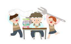 SPAI166, 프리진, 일러스트, 이벤트, 교육, 에프지아이, 이벤트데이, 캐릭터, 사람, 남자, 여자, 어린이, 학생, 재밋는, 웃음, 미소, 행복, 스페셜, 스페셜데이, 기념일, 특별한, 특별한날, 생활, 축하, 전신, 휴지, 학원, 앉아있는, 서있는, 학교, 공부, 수능, 수학능력평가, 시험, 대박, 응원, 책, 특강, 머리띠, 안경, 포크, 책상, 교복, 3인, illust, illustration #유토이미지 #프리진 #utoimage #freegine 20092030