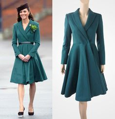 Dark green coat inspired by Duchess Kate by TatianasDelights. From that store at Etsy. Nice, ay? True and Soft Summer.