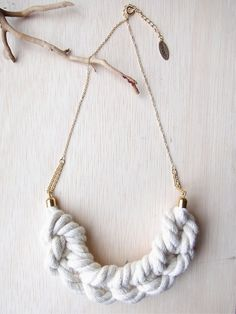 Ami Rope Smile Necklace - Natural. $38.00, via Etsy.