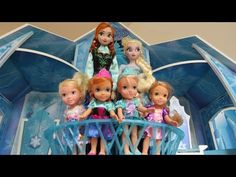 ELSA, ANNA, their kids and Olaf go to the POOL with Barbie and the Secret Door characters - YouTube