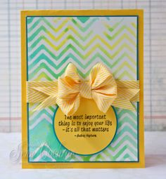 Embossing Folder Stamping and Tell All Video by Jenn Cochran with Really Reasonable Ribbon