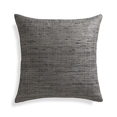 """Shop Trevino Nickel Grey 20"""" Pillow.  Silk takes color beautifully revealing subtle tonal variances for depth and dimension."""