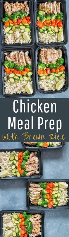 Chicken meal prep with brown rice is one of the easiest, healthy, budget friendly recipe. Buttery lemony herbed chicken with stir fried crunchy vegetables and cilantro lemon brown rice all fixed in 30 minutes. Yes, you read it right, all in 30 minutes! Meal Prep Bowls, Easy Meal Prep, Healthy Meal Prep, Healthy Eating, Healthy Recipes, Fast Recipes, Best Dinner Recipes, Indian Food Recipes, Amazing Recipes