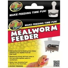 Zoo Med Zoo Med Hanging Mealworm Feeder Fun idea! But I can make this myself. Cmm