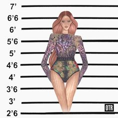 In addition to the Victorian lace body suit, another one of Beyoncé's wardrobe looks from the On The Run Tour was the brain work ofMichael Costello. The heavily sequined top paired with printed briefs, mixed patterns while remaining within a dedicated color palette. The inspiration for this look came from Ty Hunter, but finding the perfect fabric to execute it was a hunt in itself.