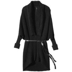 Labworks Women's Plus-Size Long Dolman Sleeve Belted Cardigan Sweater... ($38) ❤ liked on Polyvore