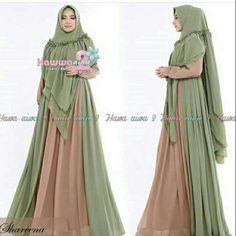 Shareena Syari by Hawwa Aiwa Baju Gamis Bahan Ceruti Babydoll 4 Moslem Fashion, Niqab Fashion, Fashion Dresses, Hijab Dress, Casual Hijab Outfit, Abaya Designs Dubai, Hijab Style Tutorial, Goddess Dress, Islamic Fashion