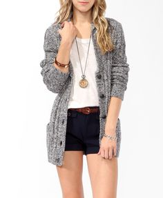 Trend: Knits // Longline Elbow Patch Cardigan, Forever 21