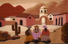 Fotos de Purmamarca: Paisajes y Fotografías del norte argentino Modern Tapestries, Weaving Textiles, Naive Art, Graphic Patterns, Fabric Art, Art Techniques, Textures Patterns, Home Art, Folk