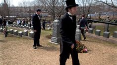 Visitors in period clothing arrive for a memorial service at Fairview Lawn Cemetery to mark the 100th anniversary of the sinking of RMS Titanic in Halifax on Sunday, April 15, 2011. (Andrew Vaughan / THE CANADIAN PRESS)