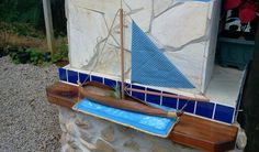 Palm tree seed pod boat, a bit flimsy but finished.