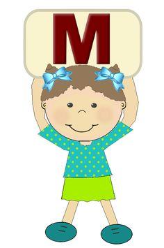 """Alfabetos maninas """"M"""""""