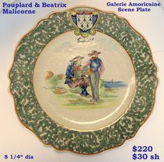 This Malicorne plate from Pouplard & Beatrix may look like Quimper to you! Photo courtesy of countryfrenchpottery.com