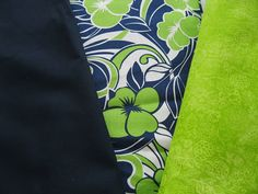 Navy and Lime Green Coordinating Fabric  3 by LindaRaesTreasures, $15.99
