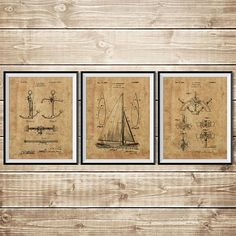 Sailboat blueprint nautical wall art patent print group sailboat sailboat blueprint nautical wall art patent print group sailboat art patent print malvernweather Images